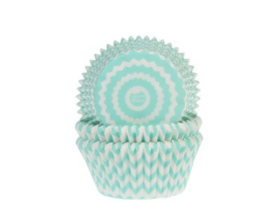 Muffinsform - Chevron mint