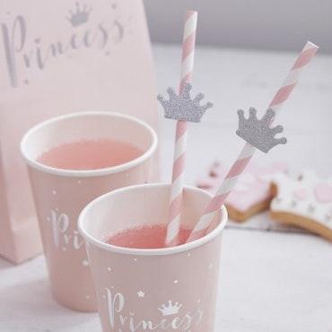 Papperssugrör - princess paper straws