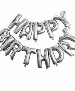Ballong - Happy Birthday, silver