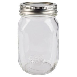Ball Pint Smooth regular Mason Jar 16 oz
