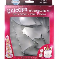 Unicorn cake decorating set 5 delar