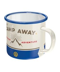 Emaljmugg VW - Lets camp away