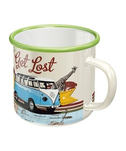 Emaljmugg VW Bulli - Let's get lost