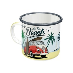 Emaljmugg VW Bulli - At the beach