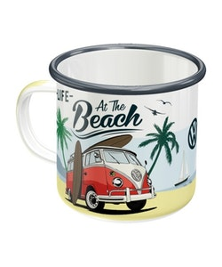Emaljmugg VW Bulli - At the beach