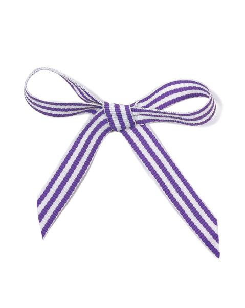 Ripsband - lila/vit rand