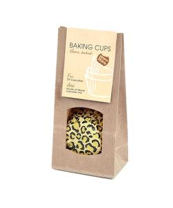 Muffinsform - Yellow Leopard