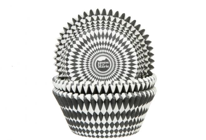 Muffinsform - Harlequino svart