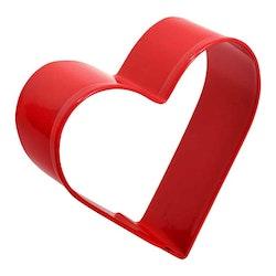 Pepparkaksform - rött hjärta