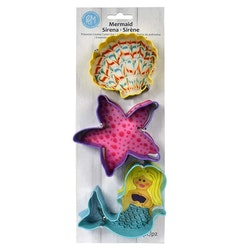 Pepparkaksformar - Mermaid set om 3 st