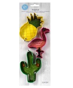 Pepparkaksformar - Tropical set om 3 st