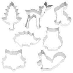 Pepparkaksformar - Woodland 7 delar