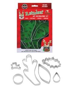 Reindeer cake decorating set 6 delar