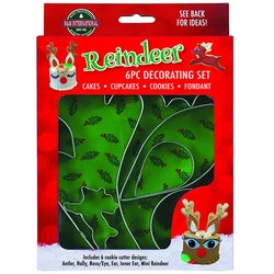 Reindeer cake decorating set 6 delar