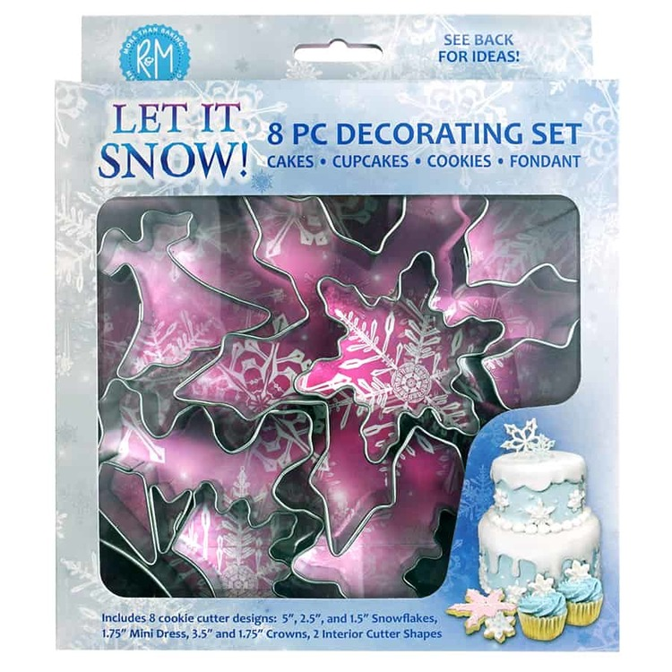 Let it snow cake decorating set 8 delar