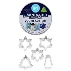 Kakmått - Snowfall miniatyr, 5 st