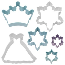 Pepparkaksformar - Snow queen 6 delar
