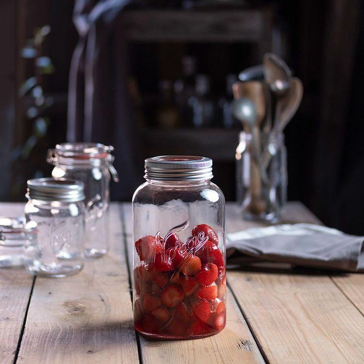 Norgesglass - glasburk med skruvlock 2 lit