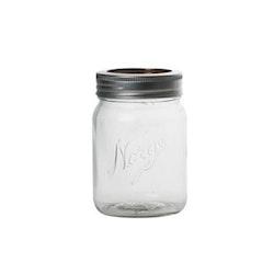 Norgesglass - glasburk med skruvlock 0,7 lit