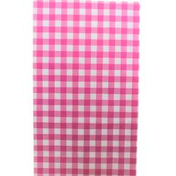 Presentpåse 10 st - hot pink, rutig