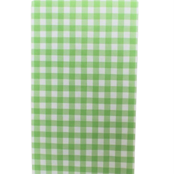 Presentpåse 10 st - äppelgrön, rutig