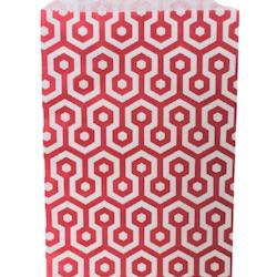 Kalaspåsar 10 st - röd/vit honeycomb