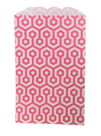 Kalaspåsar 10 st - rosa/vit honeycomb