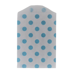 Kalaspåsar 6 st - Little Bitty Bags - ljusblå prickig