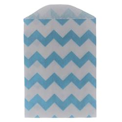 Kalaspåsar 6 st - Little Bitty Bags - chevron blå