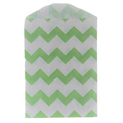 Kalaspåsar 6 st - Little Bitty Bags - chevron grön