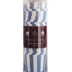 Bakform navy blue rand - Muffinsformar