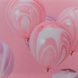 Marble balloons - 10 st rosa och lila ballonger