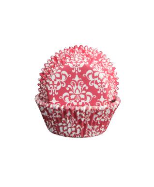 Muffinsform - Damask röd