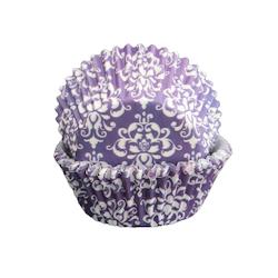 Muffinsform - Damask lila
