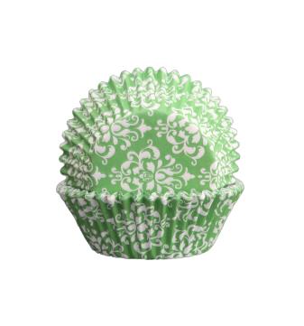 Muffinsform - Damask grön