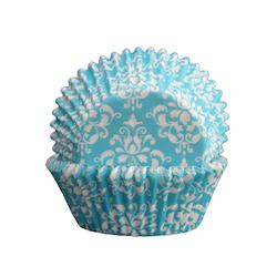 Muffinsform - Damask blå