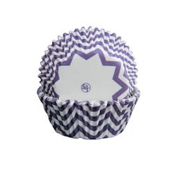 Muffinsform - Chevron, lila