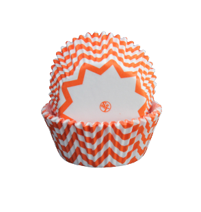 Muffinsform - Chevron, orange