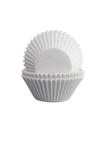 Muffinsform - vit, höga