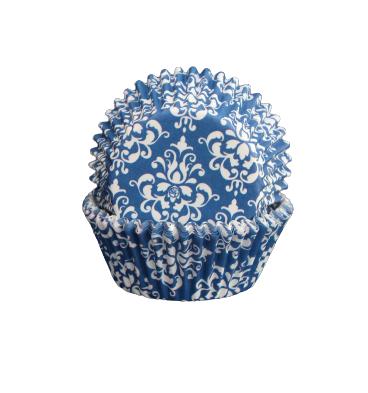 Muffinsform - Damask mörkblå