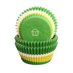 Muffinsformar - Cirkel tre färger, grön