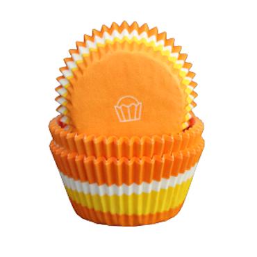 Muffinsformar - Cirkel tre färger, orange