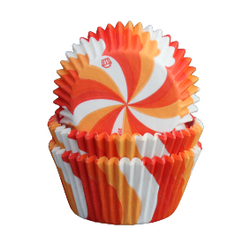 Muffinsformar - Swirl röd, orange