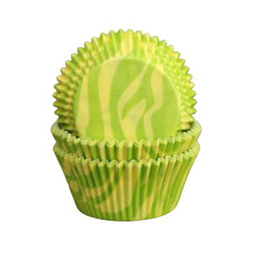 Muffinsformar - Grön zebra