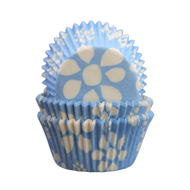 Muffinsformar - Blå blom