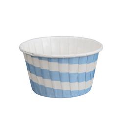 Stabil form - Ljusblå rand