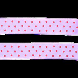 Sidenband - rosa med prickar