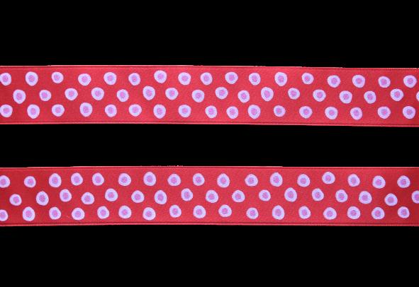 Sidenband - röd med prickar