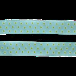 Sidenband - turkos med prickar