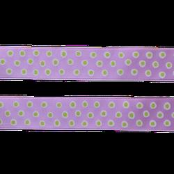 Sidenband - lila med prickar